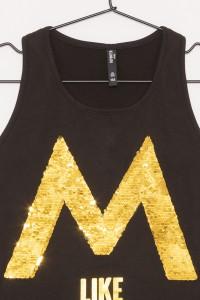 Dziewczęcy T-shirt z nadrukiem i odwracalnymi cekinami Millionaire