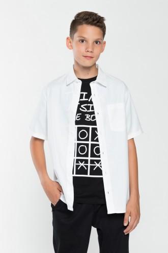 Chłopięca koszula z krótkim rękawem Free elegance
