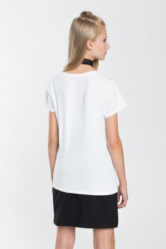 Dziewczęcy T-shirt biały