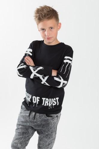Chłopięca bluzka wkładana z nadrukiem Lack of trust