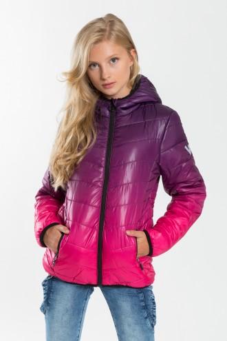 Dziewczęca kurtka pikowana z kapturem Violet