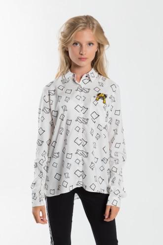 Dziewczęca koszula z nadrukiem Puppy