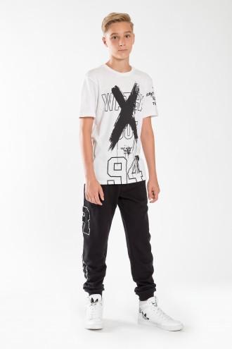 Chłopięce spodnie dresowe z nadrukiem Rules