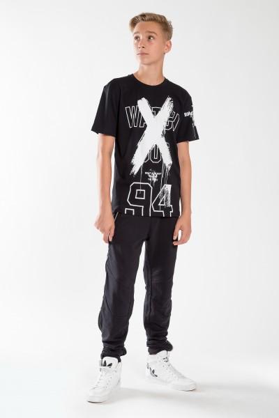 Chłopięcy T-shirt z nadrukiem X Black