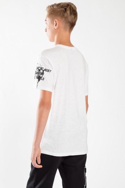 Chłopięcy T-shirt z nadrukiem X White