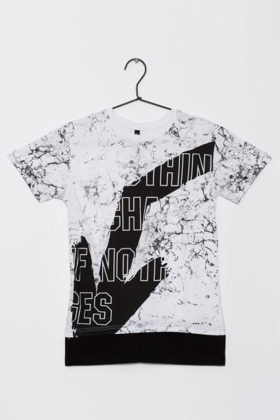 Chłopięcy T-shirt z nadrukiem Look Down