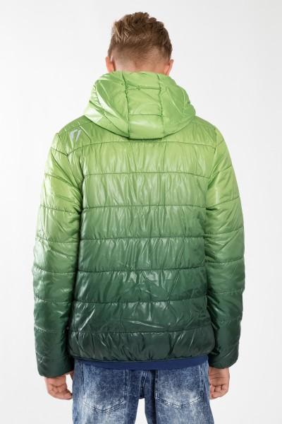 Chłopięca kurtka puchowa z kapturem Green me