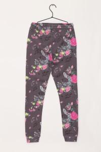 Dziewczęce spodnie dresowe z nadrukiem Flower Power