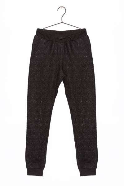 Dziewczęce spodnie dresowe z koronką Cute