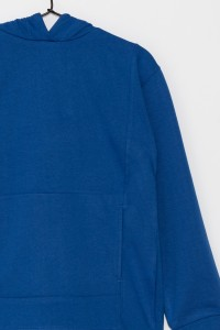 Dziewczęca bluza przedłużana z kapturem