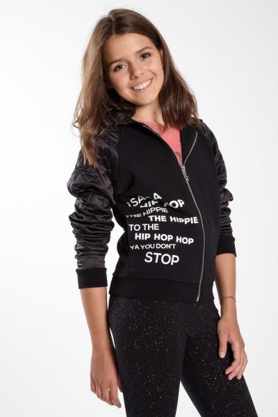 Dziewczęca bluza bomberka z  nadrukiem Hippie
