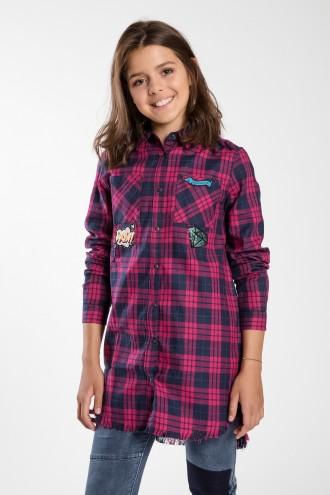 Dziewczęca koszula w kratę Hey!