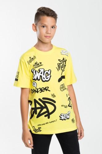 Chłopięcy T-shirt z nadrukami Danger