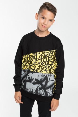 Chłopięca bluza wkładana z nadrukiem Graffiti