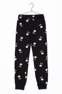 Chłopięce spodnie od piżamy z nadrukiem Skull
