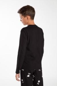Chłopięca bluzka z długim rękawem od piżamy Niewyspany