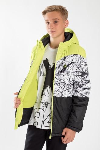 Neonowa chłopięca kurtka SQAD