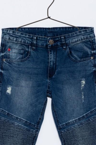 Chłopięce spodnie dżinsowe z przeszyciami Collegiate