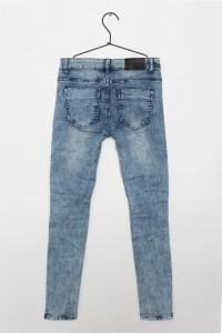 Dziewczęce spodnie dżinsowe z przeszyciami BFF
