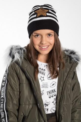 Dziewczęca czapka GWIAZDA