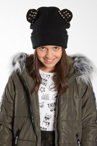Dziewczęca czapka z uszami