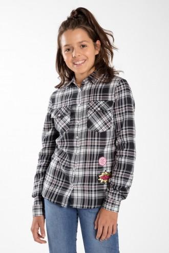 Koszula w kratę dla dziewczyny