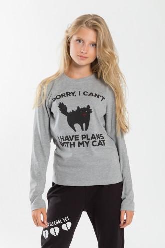 Szara bluza dla dziewczyny