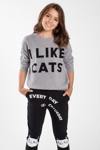 Szary sweter dla dziewczyny