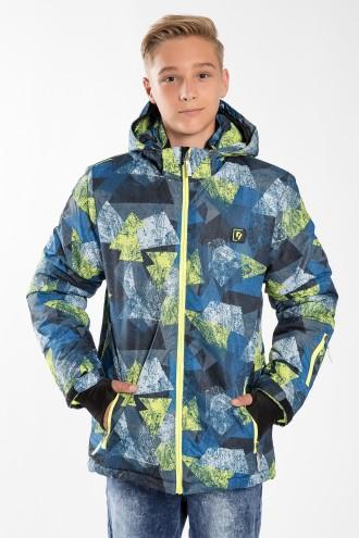 Chłopięca kurtka outdoorowa z pasem śniegowym