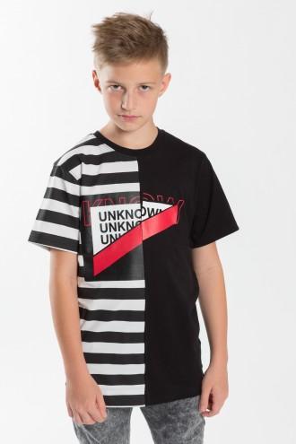 Chłopięcy T-shirt UNKNOW z nadrukiem