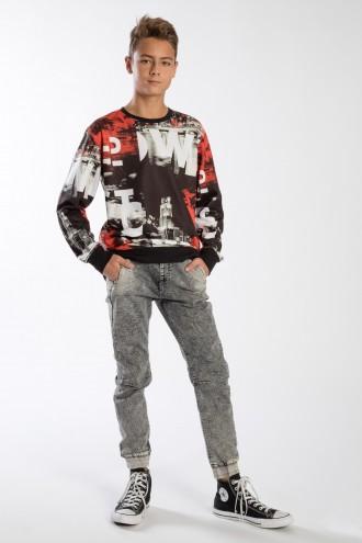 Spodnie Joggery z czarnego jeansu