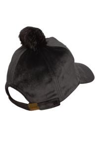 Dziewczęca czapka z daszkiem i aplikacją cekinową