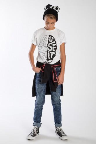 Granatowe spodnie chłopięce