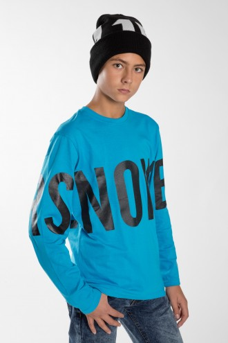 Chłopięca niebieska bluza SNOWBOARD