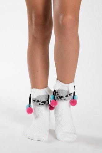 Białe skarpetki dla dziewczyny KOTEK