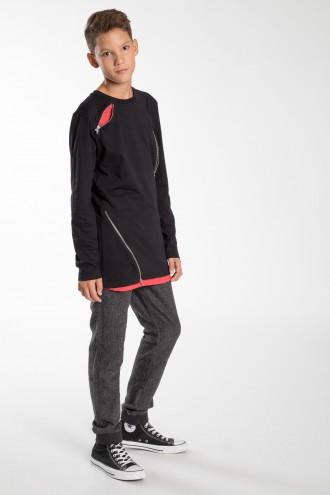 Chłopięce szare spodnie dresowe