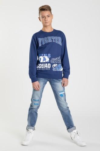 Spodnie z przetarciami dla chłopaka