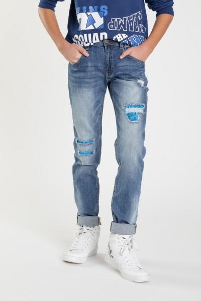 3cc9e8d78aec6 Eleganckie Spodnie Baggy Chłopięce Młodzieżowe Sklep Jeansowe 001E7qrx