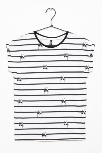 T-shirt dla dziewczynki w paski