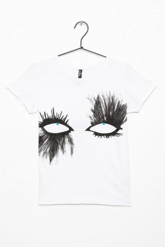 T-shirt z nadrukiem dla dziewczyny EYES