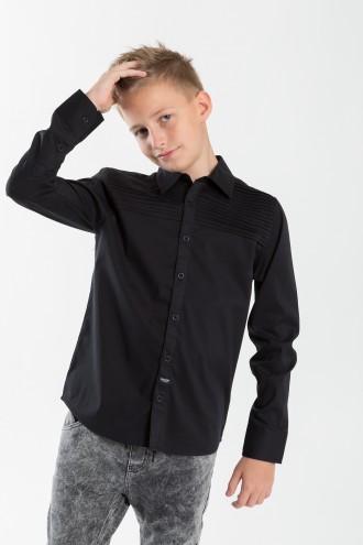 Czarna koszula dla chłopca