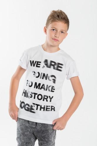 T-shirt chłopięcy z napisami