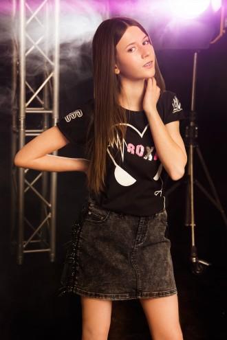 T-Shirt ROXIE czarny