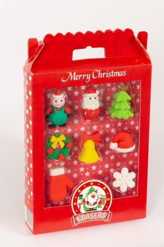 Zestaw świątecznych gumek do mazania