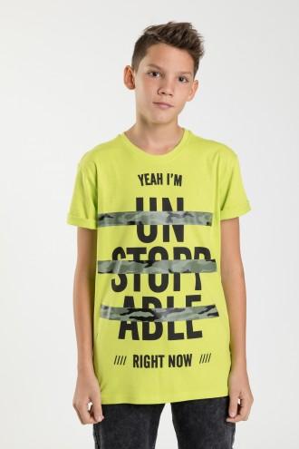 Żółty T-shirt dla chłopca