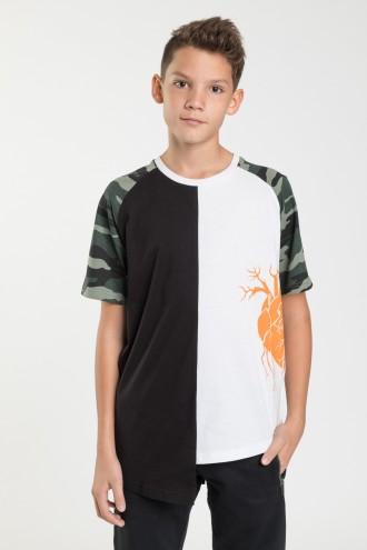 Biało czarny T-shirt dla chłopca