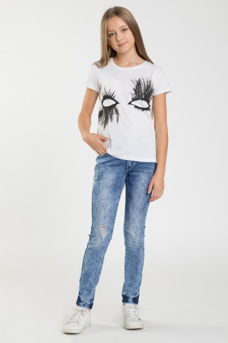 Spodnie jeansowe dla dziewczyny CHILL DREAM