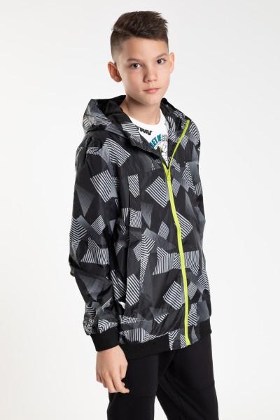 Chłopięca sportowa kurtka we wzory