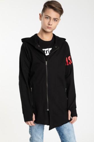 Czarna przedłużana bluza dla chłopaka