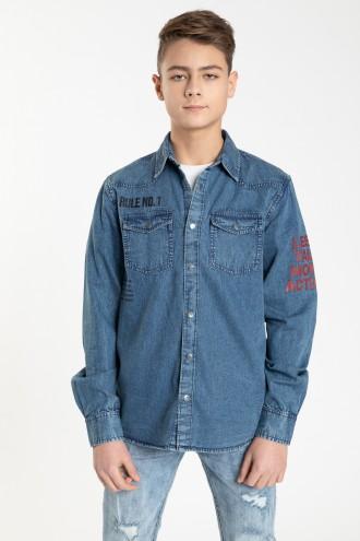 Jeansowa koszula dla chłopaka